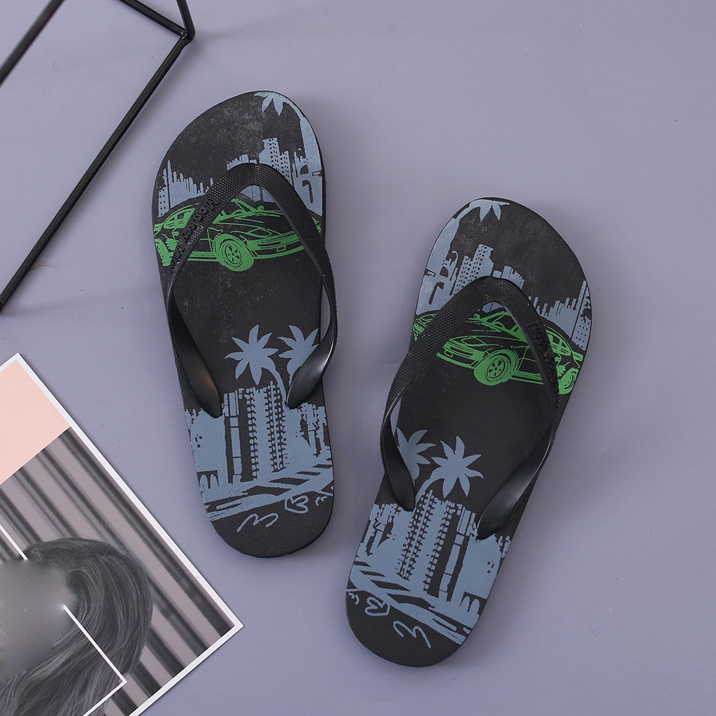 Bohemia Flip Flops Slippers For Men Summer Hawaiian Beach Vacation Casual Shoes Male Home Indoor Shower Slipper Lightweight New