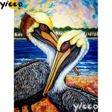 Full Square/Round drill diamond Painting Australian Pelican 5D DIY diamond embroidery mosaic Decoration painting AX0110 full square round drill diamond painting sweet love 5d diy diamond embroidery mosaic decoration painting ax0110