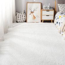 Fluffy Carpet Rugs Anti-Slip Rectangle Pink White Nordic Bedroom/living-Room Large-Size