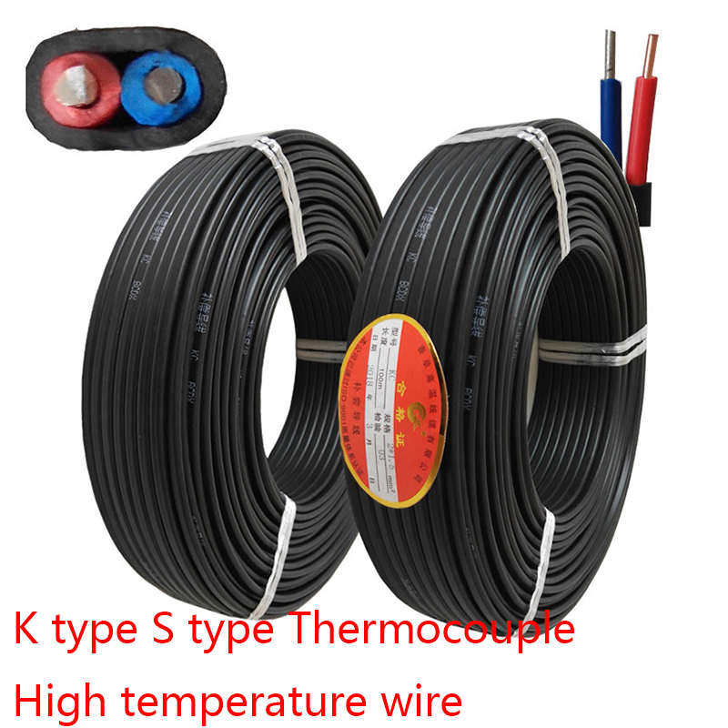 KC2X1 Compensation Wire SC2X1 K Type S Type Thermocouple Connect Wire High Temperature Wire Temperature Measurement Wire