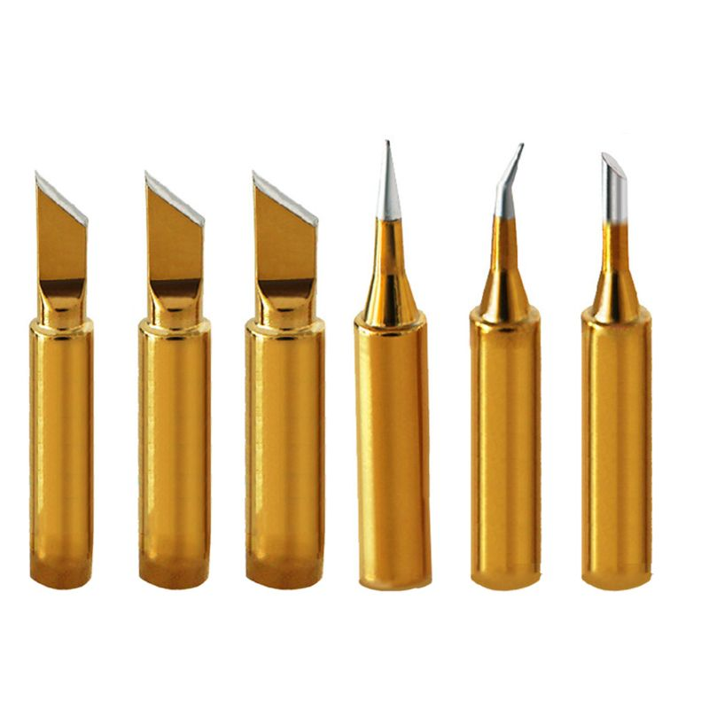 Gold Color Lead-Free Soldering Iron Tip Internal Heating Replacement For 936 Solder Stations