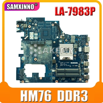 Akemy LA-7983P Laptop motherboard For Lenovo G780 GM for Lenovo QIWG7 LA-7983P HM76 PGA989 DDR3 mianboard Test 100%