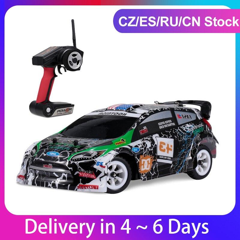 WLtoys K989 RC araba 1/28 uzaktan kumanda sürüklenme araba 2.4G 30km/saat yüksek hızlı RC araba 4WD RC yarış arabası araba spor yarış Drift oyuncak arabalar çocuk