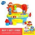 HOLA 907 детские игрушки мастерская Brinquedos Bebe Juguettes младенческий инструмент со звуком Дети раннего обучения игры игрушки рождественские подарк...