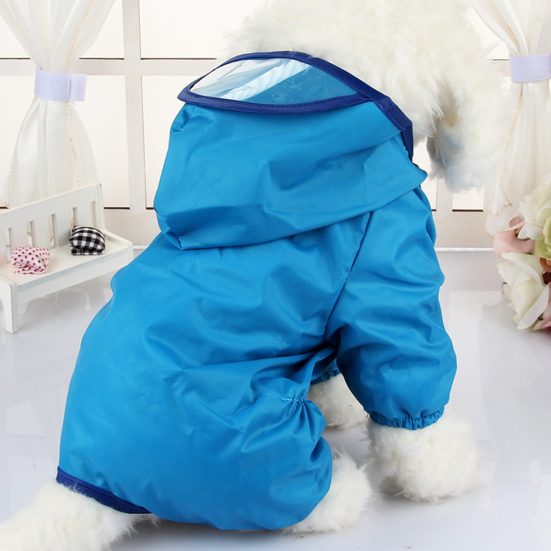 Hooded font b Pet b font Dog Raincoats Waterproof Clothes For Small Dogs Chihuahua Pug Clothing