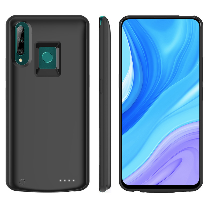 Silicone Shockproof Battery Charger Case For Huawei Y9 Prime 2019 Backup Power Bank Case For Huawei P Smart Z Charger Cover Capa