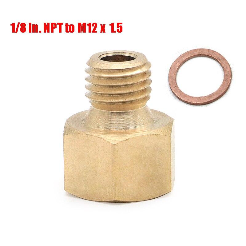 Метрический адаптер/электрическая температура латунь 1/8 дюйма. NPT к M12 x 1,5 фитинги прокладка для GM LS головки цилиндров двигателя|Гайки и болты|   | АлиЭкспресс