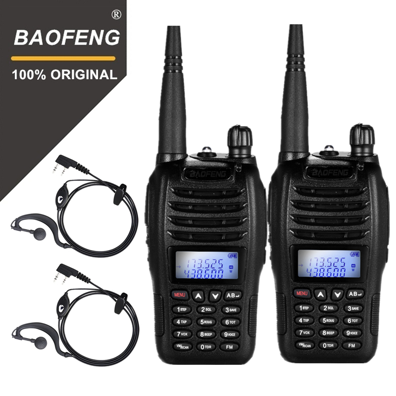 2PCS BaoFeng BF-B6 Portable Walkie Talkie UV B6 Two Way Radio Dual Band VHF/UHF Woki Toki 5W FM Radio Transceiver