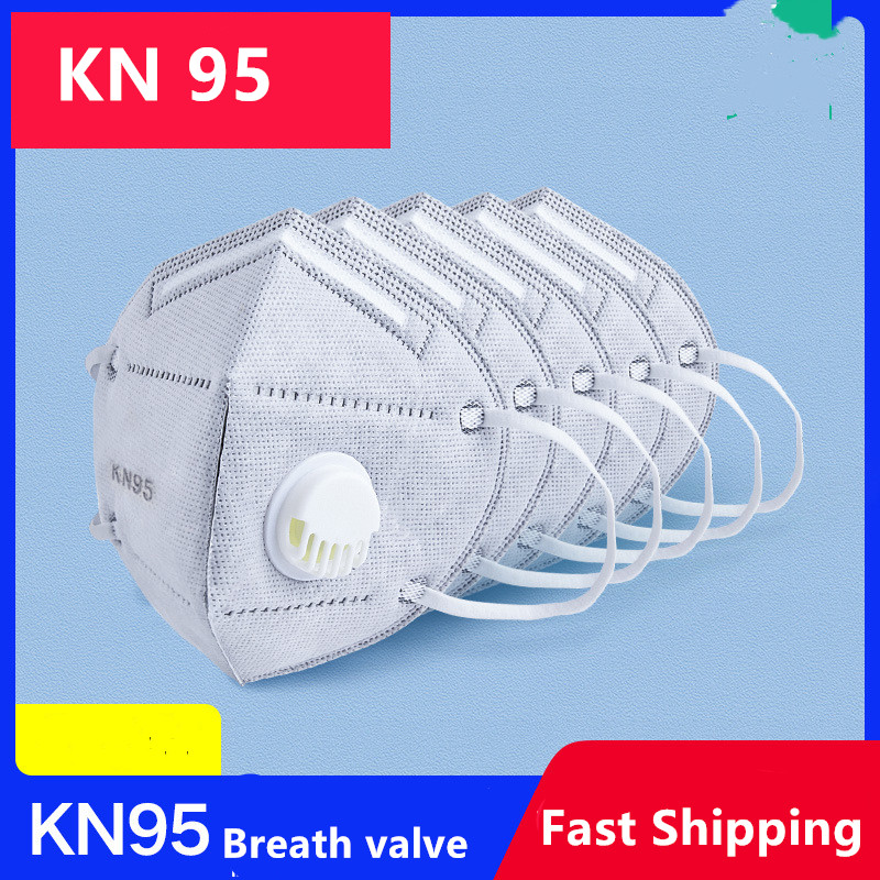 KN95 Valve Face Mask Mouth Coronavirus Disposable Masks Dustproof Breathing Protective Mask Breathable Earloop Mascarilla Corona