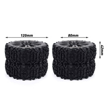 17mm Hub Wheel Rim & Tires Tyre for 1/8 Off-Road RC Car Buggy Redcat Team Losi VRX HPI Kyosho HSP Carson Hobao,2Pcs 1 8 rc car off road vehicles truck nitro change brushless perfect motor mounting holder kyosho hsp hobao fs racing