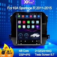 9.7 inch tesla style Car Radio android Sportage 3 4 2011 2015 gps Navigation For KIA Sportage 1 2 sedan accessories multimedia