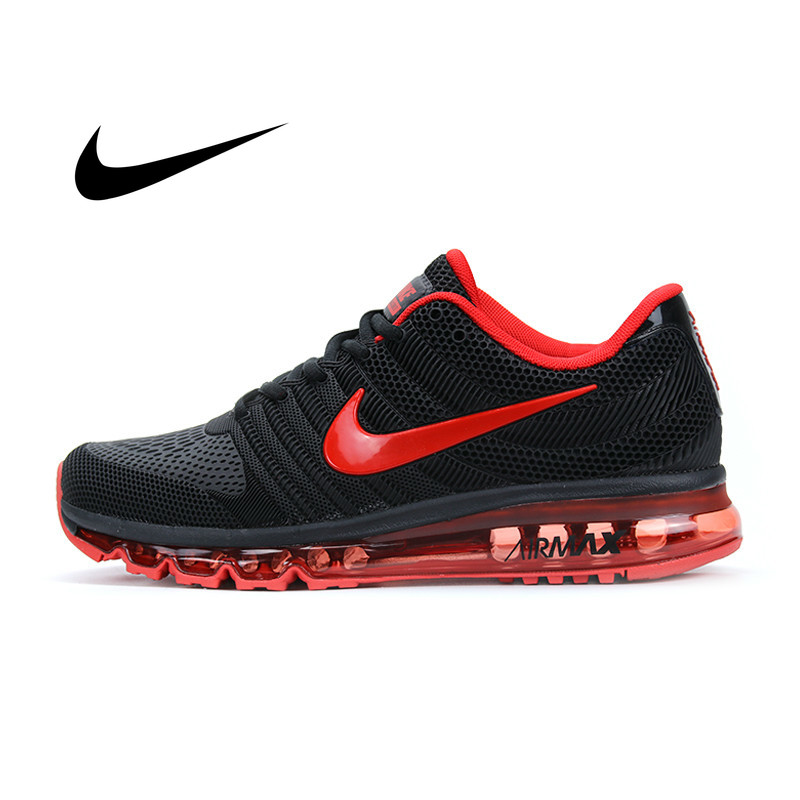 US $70.0 65% OFF|Original Authentic NIKE AIR MAX 2017 Mens Running Shoes Sport Outdoor Mesh Breathable Sneakers Athletic Designer Footwear new on