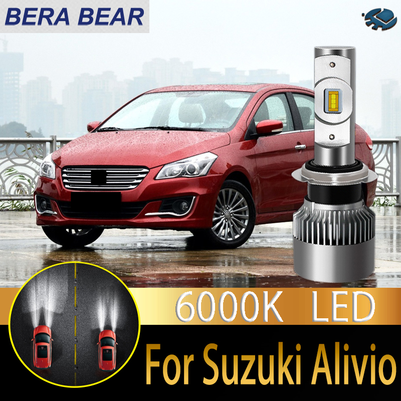 BERA BEAR Car Headlight Bulbs LED For Suzuki Alivio Ciaz 2015-2018 LED Car 6000K 10000LM White Light Auto Headlight 2X