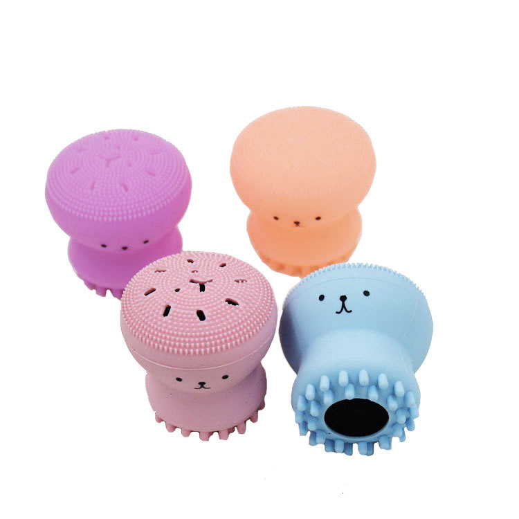 Mini Silicone Face Cleansing Brush Facial Cleanser Pore Cleaner Exfoliator Face Scrub Washing Brush Skin Care Massage Wash Tool