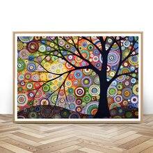 Алмазная вышивка пейзаж абстрактная алмазная живопись с деревом