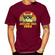 Awesome Since 1989 30Th Birthday Gift Cat Gift T Shirt for Men Women Girls Unisex Funny Cool Tee Short Sleeve