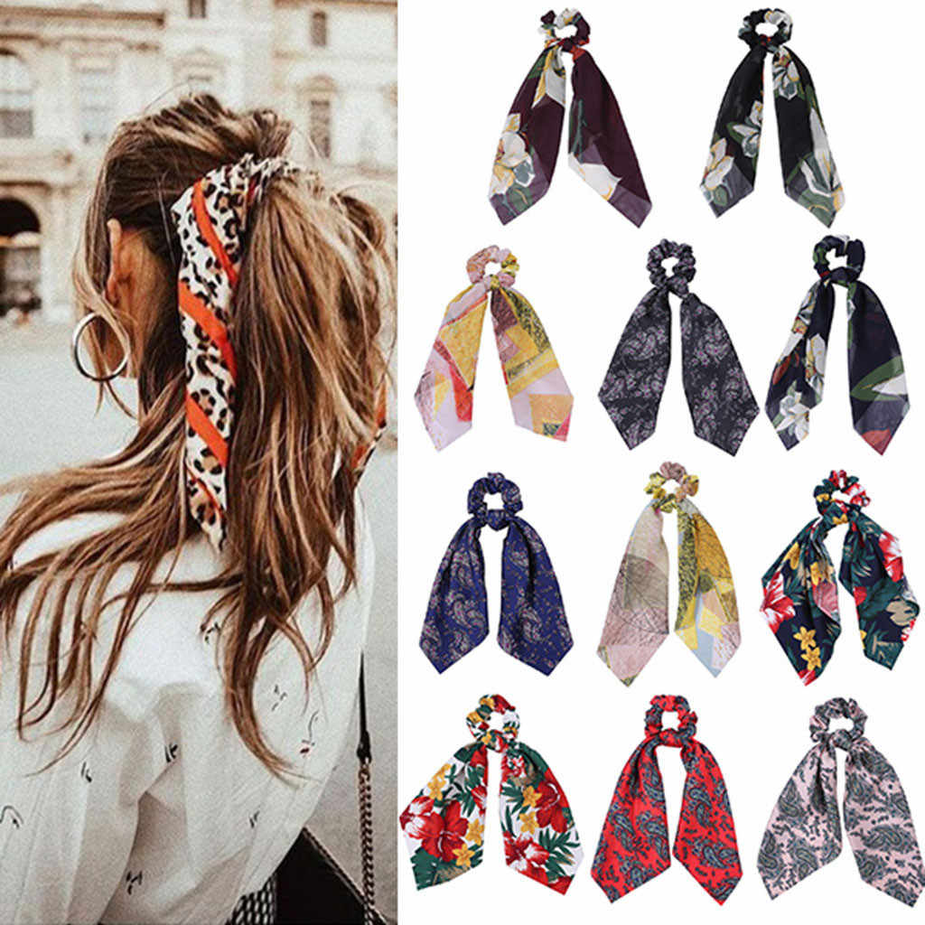 Floral cross headband Bohemian Woman Bouquet Hair band Flower Print Cross Elastic Hair accessories Yoga Beach резинки для волос
