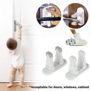 Door Lever Lock Self-Adhesive Baby Child Proof Safety Door Handle Lever Lock Double Lock Design Proof Safety