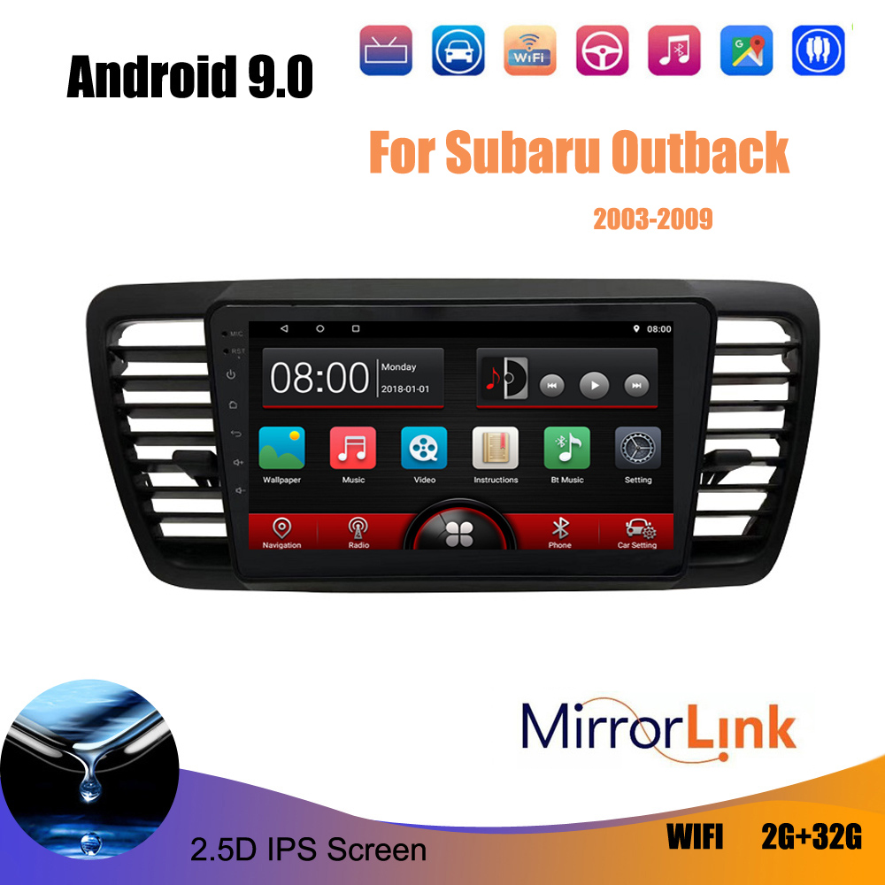 2 Din Car Multimedia Player Intelligent HD Capacitive Screen Audio Video Android For Subaru Legacy Outback 2 din car stereo image