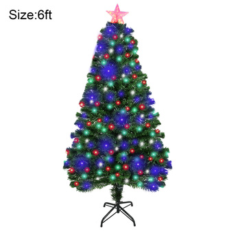 Christmas Tree Artificial Decoration LED Light with Metal Stand for Home Party New CNT66