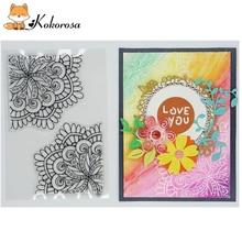 Kokorosa Mushroom Cactus Flower Clear Stamps Rubber Stamp Scrapbooking Album Decor Transparent Decoration