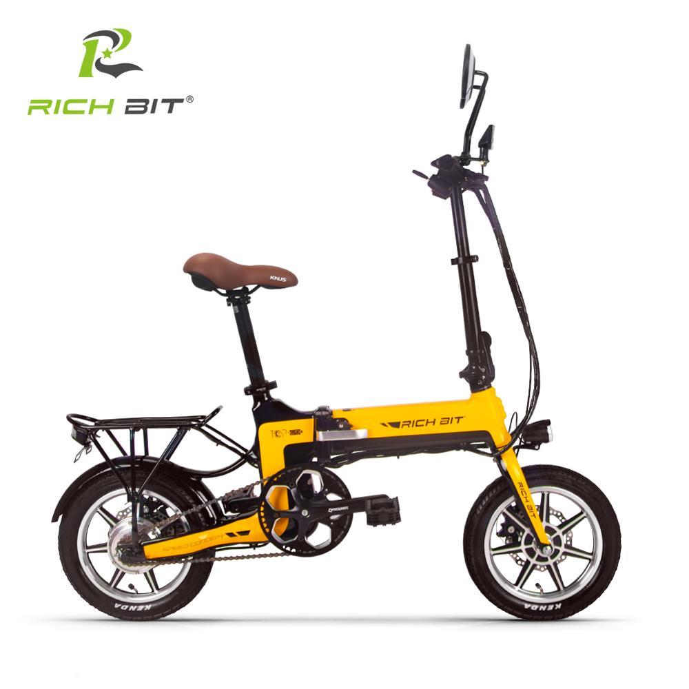 RichBit RT 619 14 Inch Folding Electric font b Bike b font 36V 250W 10 2Ah