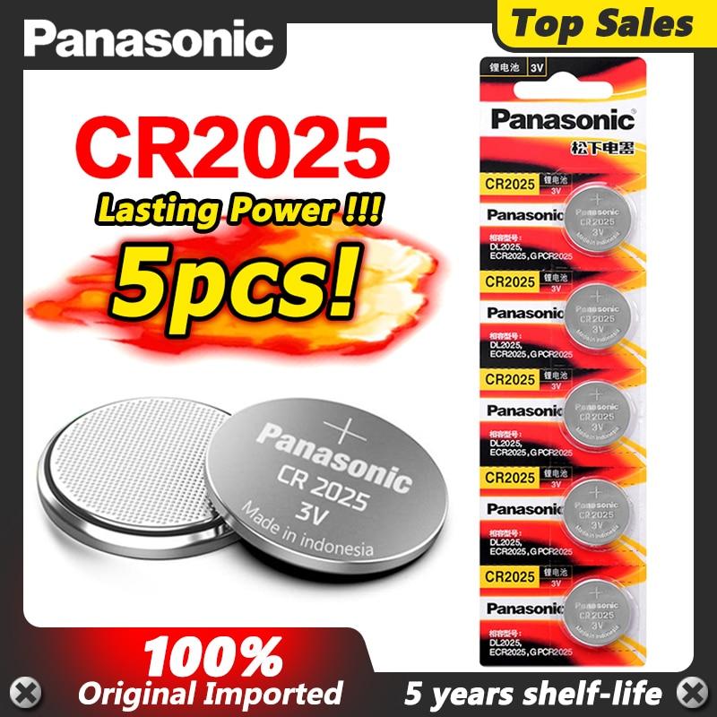 5 шт. CR2025 оригинальные PANASONIC весы 3 в кнопочная монетница литиевая батарея для цифровой камеры видеокамеры часов калькулятор батареи|Часовые батарейки|   | АлиЭкспресс