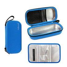 Przenośne torby termoizolacyjne z insuliną Eva torebka chłodząca leki insulina cukrzycowa walizka podróżna pudełko na pigułki z folii aluminiowej torby na lód