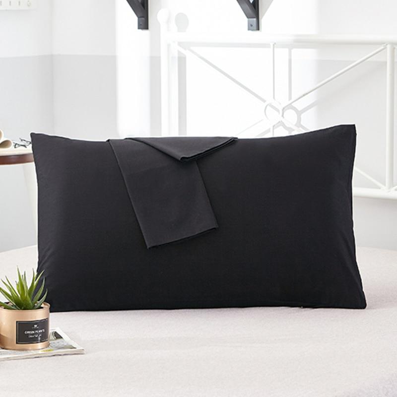 100% Cotton Pillowcase Soft Decorative Pillow Case Pillow Covers Solid Color Pillowcases Bedding Article 1Pcs/2Pcs Free Shipping