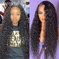 30 32 дюймов глубокая волна 13X6 прозрачного кружева фронтальные парик из бразильских человеческих волос воды вьющиеся парики 4x4 застежка пари...