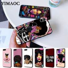 Melanin Poppin Shining Colorful Cute Silicone Case for iPhone 5 5S 6 6S Plus 7 8 11 Pro X XS Max XR