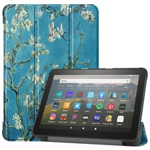 Folding Stand Cover Case Tablet Pattern PU Leather Smart Cover For Amazon Kindle Fire HD 8 Inch 2020 Tablet Case KS0658 tablet case 7 inch universal tablet pc protective shell for children shockproof cover eva handle stand for amazon kindle fire