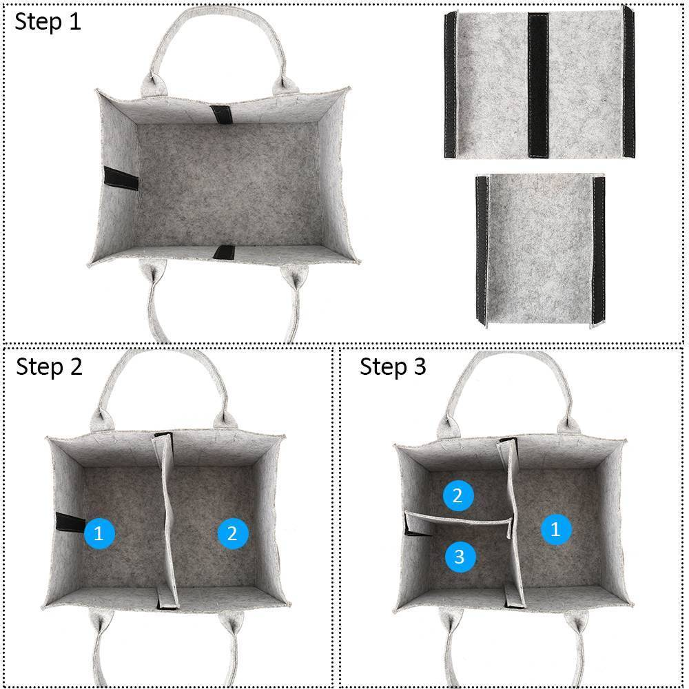 Купить с кэшбэком Portable Foldable Felt Diaper Storage Bag Multifunction Kids Clothes Handbag For Baby Diaper Organizer Mom Nappy Bags