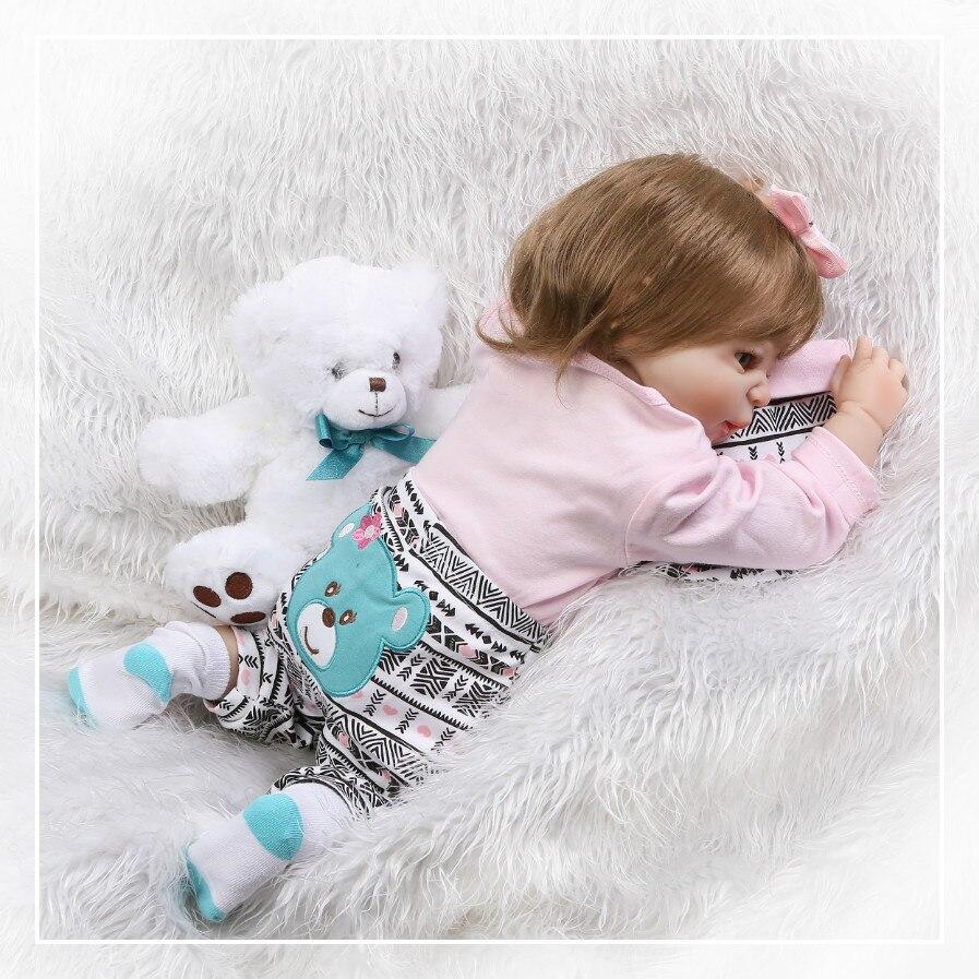 57 см полностью виниловая кукла Boneca Reborn для девочек, реалистичные куклы Reborn, детская мягкая силиконовая кукла Reborn, игрушки для детей, подарки