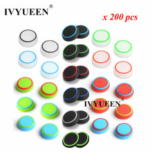IVYUEEN 200 Pcs Analog Thumb Stick Grips Caps for Dualshock 5 4 PS5 PS4 PS3 Controller Thumbsticks Cover for XBox One X S 360