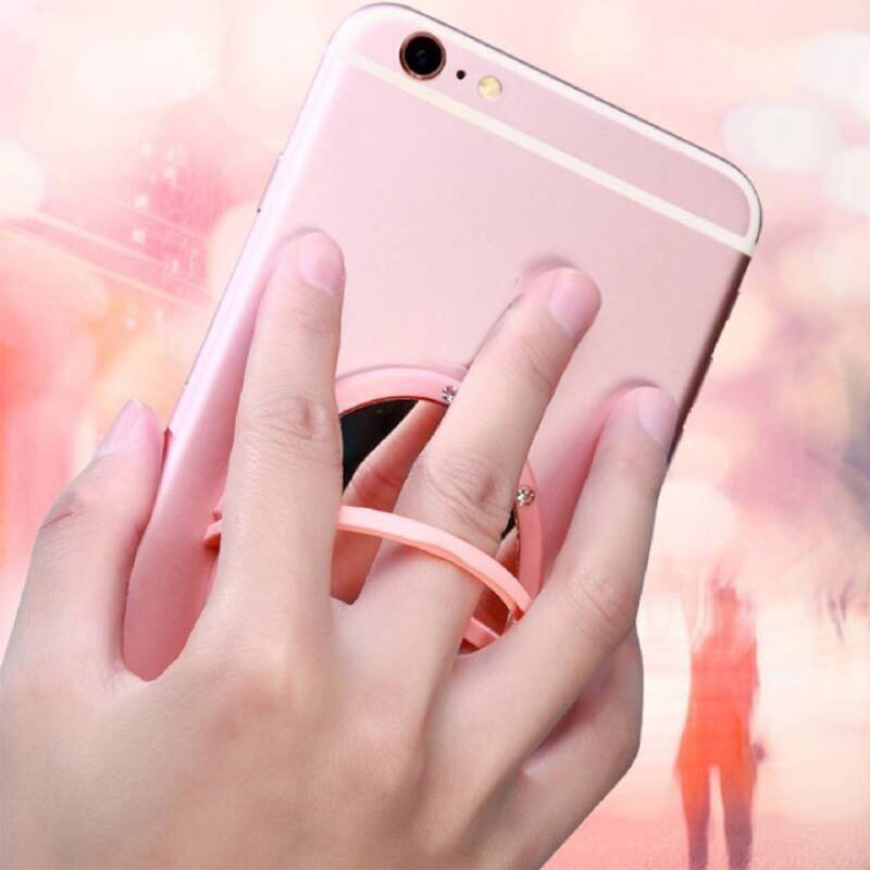Best Selling Multi-function Makeup Mirror Ring Buckle / Mobile Phone Holder Small And Convenient To Carry