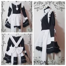 New Fire Emblem Fates Felicia Maid Dress Cosplay Costume Fancy Custom Made Black White Gown custom made fire emblem fates cosplay costume adult takumi cosplay costume halloween cosplay costume