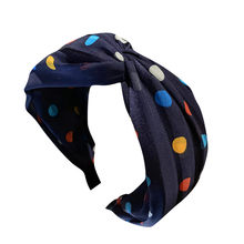 Fashion Colorful Polka Dot Girl Hair Accessoires Women Sweet Wave Point Tie Hairband Hairpin Head Hoop Knot Hair Headband(China)