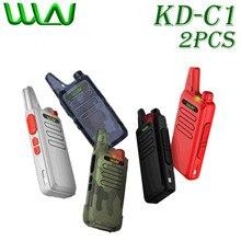 2pcs WLN KD рация C1 Mini Walkie Talkie Handheld 2 Way Ham Radio Transceptor hf USB Cobrando KD-C1 uhf walkie Talkies-wln KDC1