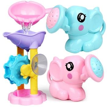 Baño del bebé noria juguete chico baño educación agua niño niños niñas de 1 a 3 feliz niño bañera espuma playa piscina