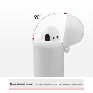 Image 5 - Чехол для airpods 2 черного и белого цвета, милый мягкий силиконовый водонепроницаемый чехол для apple airpod с защитой от царапин