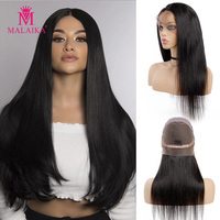 MALAIKA Straight Full Lace Human Hair Wigs For Black Women 150% Density Long Brazilian Lace Wigs