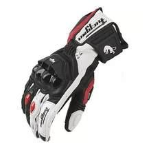 Gran oferta nueva afs6 de la motocicleta guantes carreras ciclismo guante guantes de cuero de color