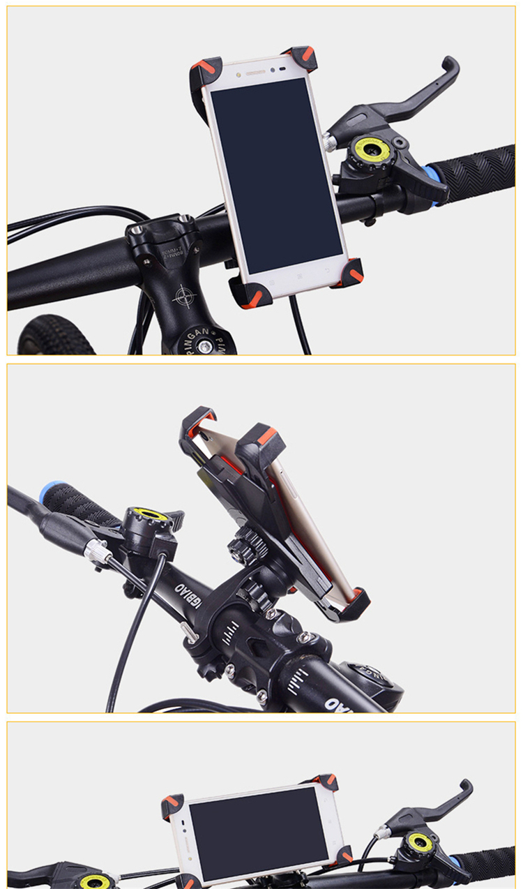 Universal Bicycle/Motorcycle Phone Holder With Secure Grip For Car Bike 10