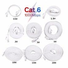 Cat6 CAT7 RJ45 sieć LAN kabel Ethernet komputer Patch UTP przewód do routera 0.5m 1m 1.5m 2m 3m 5m 10m 15m 20m 25m 30m