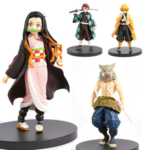 Anime Demon Slayer Figure Kimetsu No Yaiba Action Figure Kamado Tanjirou Nezuko PVC Model Toys Gifts Zenitsu Figurine Inosuke