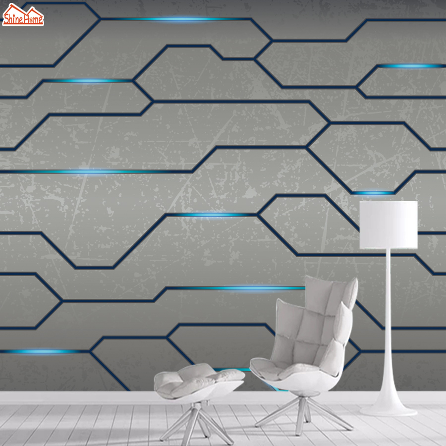 3d Wallpapers For Living Room Wallpaper Wall Paper Papers Home Decor Mural Rolls Walls Abstract Grey Line Bedroom Background