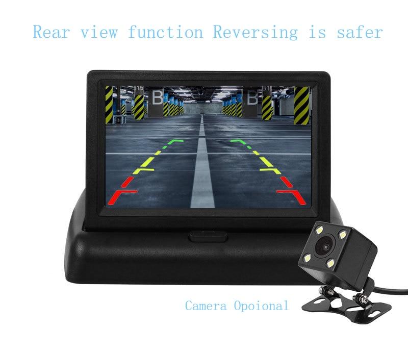 Wireless Car Monitor 4.3 TFT LCD Rear View Camer IR Universal Mirror Parking Assistance for ChevroletCruzeEpicaAveoMalibu  (1)