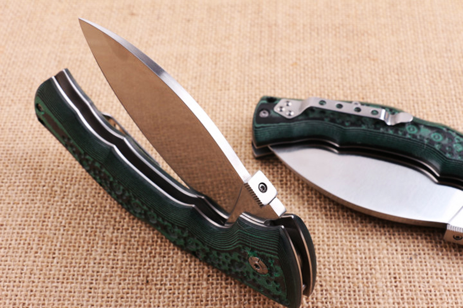 Hand 440C Folding Green Outdoor Survival Cold Hunting EDC Blade Camping Knife Handle Pocket Tactical Knife Mikata Tool