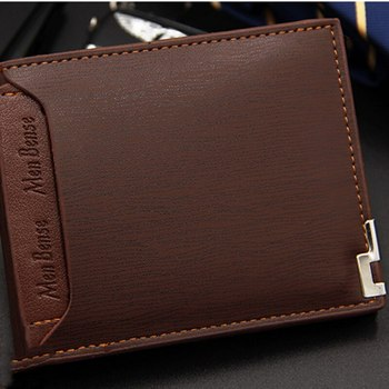 Vintage Men Leather Brand Luxury Wallet Short Slim Male Purses Money Clip Credit Card Dollar Price Portomonee Carteria image